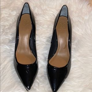 Tory Burch patent leather pointed toe heel